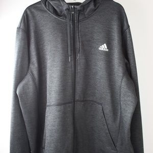 Adidas Men's Climawear gray zip up hoodie 2XL
